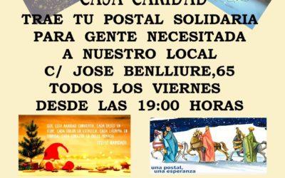 Trae tu Postal de Navidad para Casa de Caridad