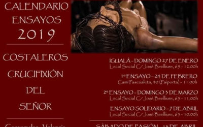 Calendario Ensayos Costaleros 2019